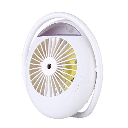 JiaMeng Ventilador Mini Ventilador USB Silencioso, humidificación de refrigeración de Aire Acondicionado de Aerosol de Escritorio USB Ventilador USB de Escritorio