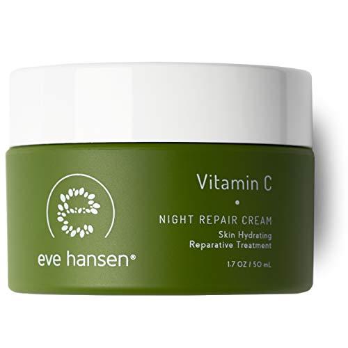 Eve Hansen Dermatologist Tested Vitamin C Face Cream | Premium Hypoallergenic Moisturizer | Fragrance Free Anti-Aging Night Cream for Dark Circles, Fine Lines, and Acne Scars | 1.7 oz