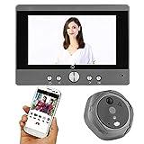 Timbre de Video WiFi, teléfono con Pantalla LCD de 5pulgadas con cámara HD, Gran Angular de 160 Grados, visión...