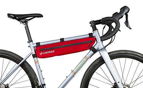 Crosso Unisex - volwassenen Zipper fietstas, rood, 2,5 L