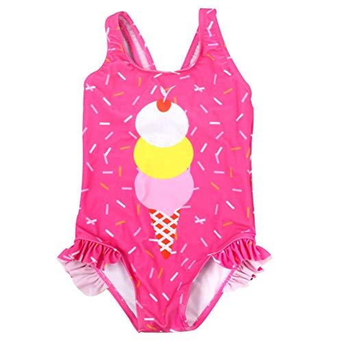 HANHOU Badeanzug Badeanzug Mädchen Kinder Badebekleidung Kinder Off Shoulder Badeanzug Beach Wear Pool Urlaub Schwimmoutfit Rock I Set,I-L
