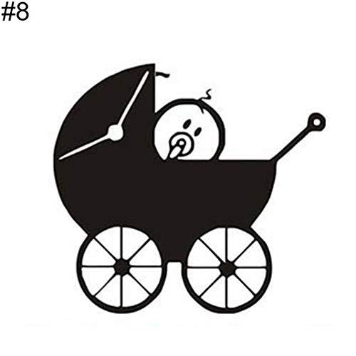 YSHtanj Autoaufkleber Außendekoration Autoaufkleber Lovely Cartoon Baby on Board Auto Fahrzeug Karosserie Fenster Aufkleber Dekoration - 8#