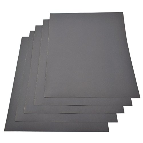 Wasserdichtes Papier, Körnung 1200, 230 x 280 mm, Nass/Trocken, Siliziumkarbid, 5 Blatt