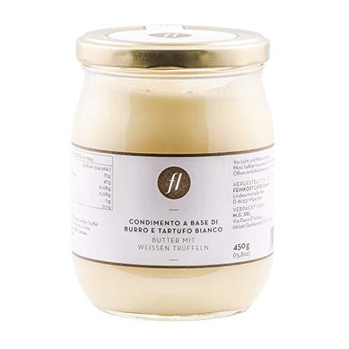 Feinkost Luigi - Trüffelbutter im Glas mit 5% echtem weißen Trüffel (450g) aus Italien