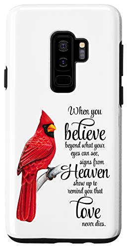 Galaxy S9+ Cardinal Red Bird Sign from Heaven Angel Case