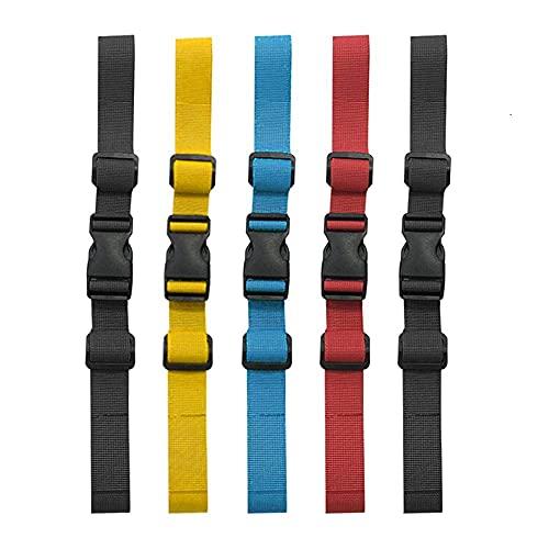 Meilo 5 pièces Sangle Poitrine Sac a Dos,Réglable Sternum Sangle Poitrine avec Boucle pour la randonnée et Le Jogging(Multicolore)