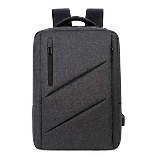 Computer Bag Student Backpack Shoulder Bag Large Capacity Multi-Functional Waterproof Bag,Dark Gray,17-Inch