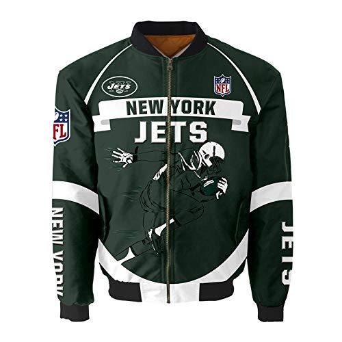 AYUSHOP NFL New York Jets Herren Hoodies - American Football Trikot, Sweatshirt Fitness Wear Casual Trainingsbekleidung, Football Team Custom Jersey Geschenke für Fans,4XL