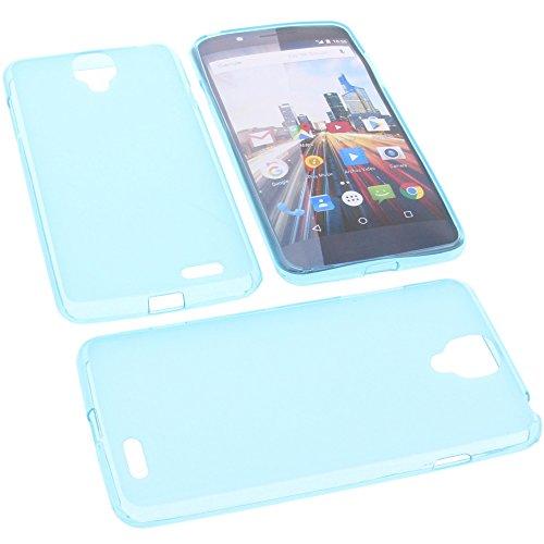 foto-kontor Tasche für Archos 55 Helium Ultra Gummi TPU Schutz Handytasche blau