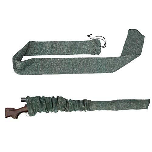 IVEN Funda blanda de silicona tratada para rifle, protector de almacenamiento de escopeta 54 x 4 pulgadas, verde militar
