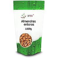 Almendras con Piel Vivio. Fruto Seco Saludable 100% Natural. Energéticas y Llenas de Fibra. Pack Ahorro de 1 kg.