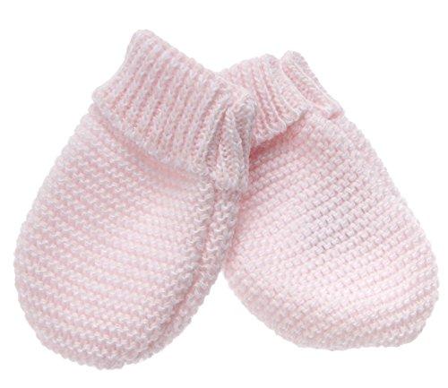 MLT Moufles de Naissance bébé (Rose Layette), tricotées en France