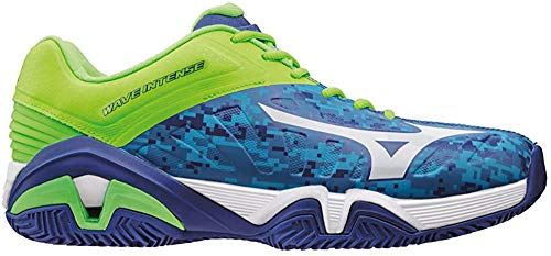 Mizuno Wave Intense Tour CC, Zapatillas de Tenis para Hombre, Azul (Bluecamouflage/White/Greengecko), 7.5 UK