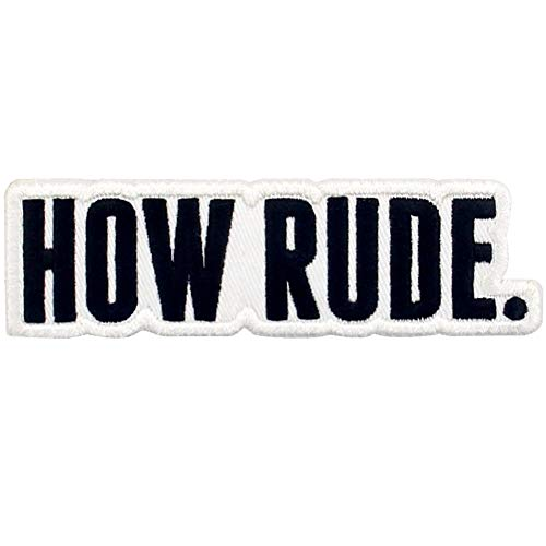 How Rude Patch Embroidered Biker Applique Iron On Sew On Emblem