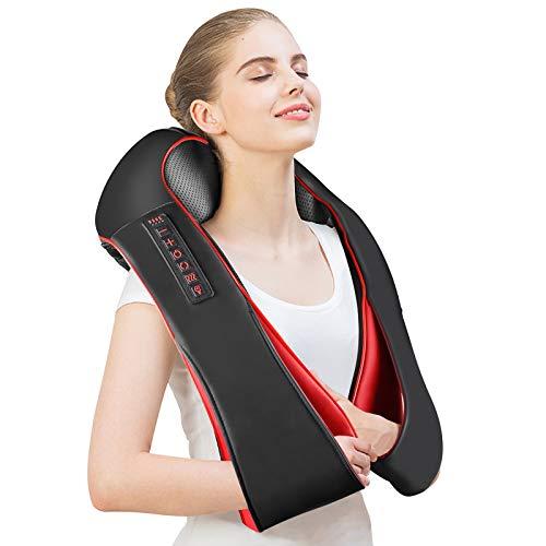 MILcea Neck Shoulder Massager Electric Back Massage with Massage Pillow 8...