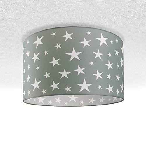 Paco Home Luminaria Infantil De Techo LED Suspendida Dormitorio Cielo Estrellado E27, Pantalla de lámpara:Taupe (Ø38 cm), Tipo de lámpara:Lámpara De Techo Negro