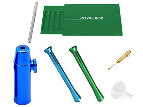 Großes Dosierer SET Portionierer Colored Sniff Snuff Bottle Sniffer Schnupf Spender Dispenser Dispensers Batcher verschiedene Varianten (Röhrchen, Spender, Löffel, Staubsauger, Rocket etc.) (SET 19)