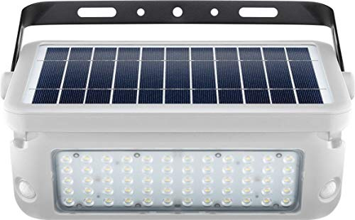 Goobay LED Solar-Wandleuchte mit Bewegungsmelder, 10W, Weiß - Lichtlösung für Hauseingänge, Carports & Treppen