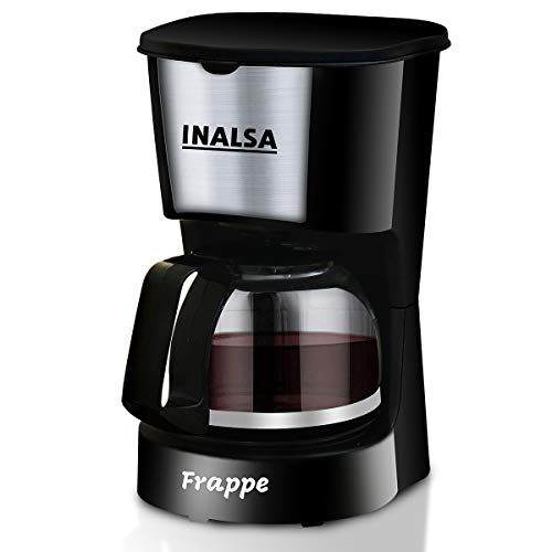 Inalsa Frappe 5 Cup (0.6L) 650-Watt Coffee Maker with Anti Drip & Keep Warm Function| Detachable...