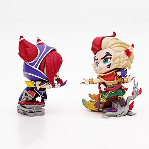 Luckly77 Xayah und Rakan Figur, die Rebellen und der Charmeur, League of Legends AD'Carry/Sup Champs, Geschenk for LOL Spieler