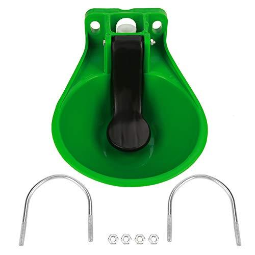SOULONG Abbeveratoio Automatico, Abbeveratoi per Bestiame, Abbeveratoio in plastica per Feeding Pet Animal Cavalli Cani Gatti Capre Cavallo, Verde, 33 x 23.5 x 15.5cm