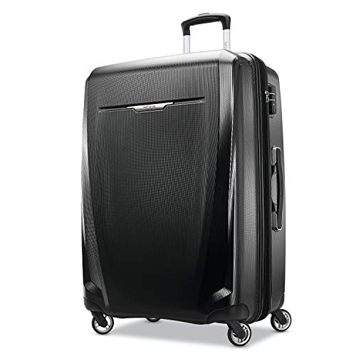 Samsonite Winfield 3 DLX Hardside Luggage, Black, Checked-Large