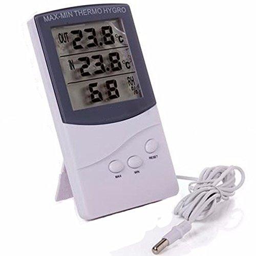MJJEsports TA-328 Hoge Kwaliteit Digitale LCD Indoor Outdoor Thermometer Hygrometer Temperatuur Vochtigheid Meter