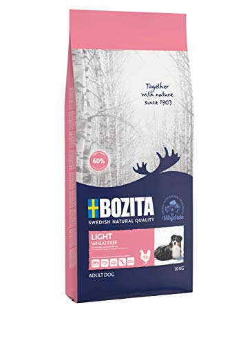 BOZITA Light Weizenfrei Hundefutter - 10 kg - nachhaltig produziertes Trockenfutter für erwachsene Hunde mit niedrigem Energiebedarf - Alleinfuttermittel