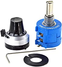 WMYCONGCONG 1Pcs 1K Ohm 3590S-2-102L 10-Turn Rotary Wire Wound Precision Potentiometer Resistor Kit (3590S-2-102L)