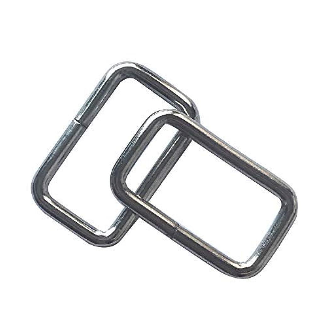 スープ貪欲種をまく50 Pcs 1 inch Metal Rectangle Buckle Ring - Metal Bag Purse Snap Hook - 25mm Rectangle Rings Webbing Belts Buckle,Q2309 [並行輸入品]