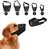 Pet Touch Dog Safety Muzzle Anti Barking Biting Chewing Eating Control Adjustable Muzzle (XL)