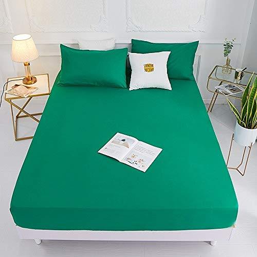 Hllhpc 1 stks 100% polyester massief bed set met vier hoeken en elastische bandlakens