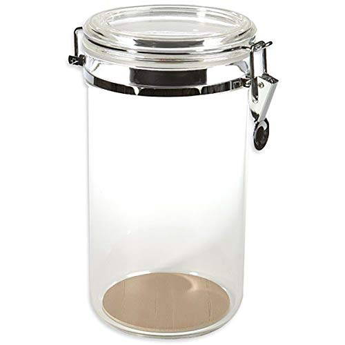 Prestige Import Group AJ25 25 Count Acrylic Humidor Jar with Humidifier and Spanish Cedar Interior Lining on Bottom
