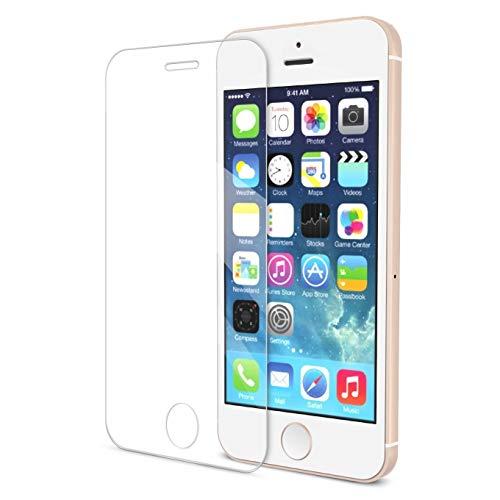 INNOTECHS® - Protector de Pantalla de Cristal Templado para iPhone SE/5/5S/5C – Protector de Pantalla Ultra Resistente con dureza 9H y Ultrafino 0,3 mm HD Ultra Transparente para iPhone se