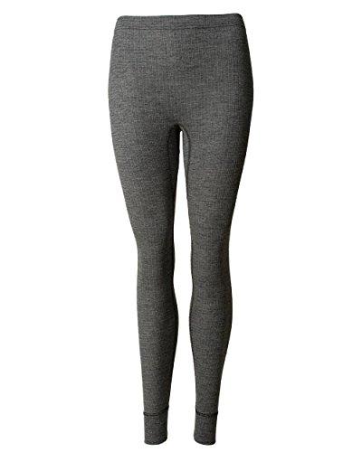 Cosilana, Damen Lange Unterhose, 45% KBA Baumwolle, 35% kbT Wolle, 20% Seide (36/38, Schwarz malange)