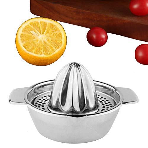 BIJANSEN Manueller Entsafter aus Edelstahl Zitronenpresse Entsafterpresse Orange Squeezer Handpresse aus Edelstahl für Obst