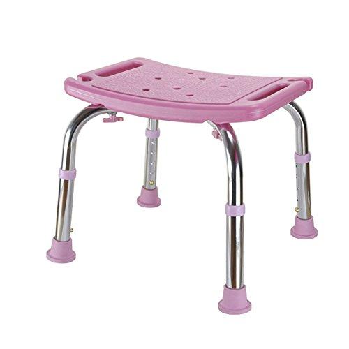 SOHOH Höhenverstellbarer Badhocker, Behinderte for ältere Menschen, Rutschfester, verdickter Haushaltshocker for Erwachsene unabhängige Durchflussunterstützung (Color : Pink)