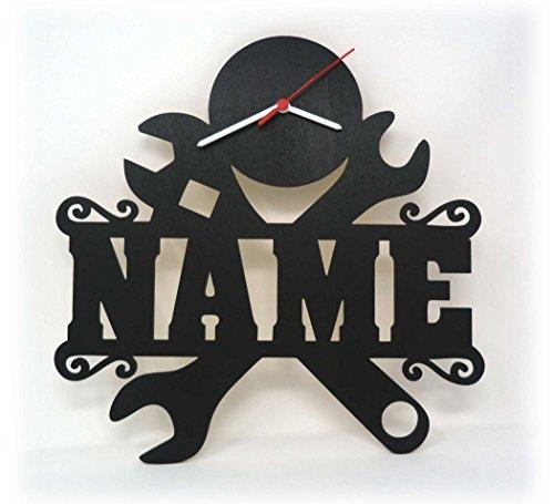 Spezial Handwerker Wand Uhr mit Namen lustige witzige Zubehör Geschenke für Werkzeug Arbeiter Büro Werkstatt Geburtstagsgeschenke Männer