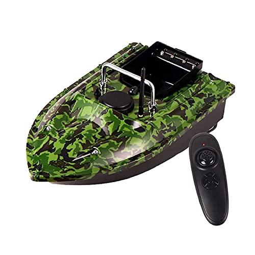 Barco de Cebo de Peces Control Remoto Inalámbrico Impermeable Barco señuelo de Pesca con 2 Motores Transporte Cebo 1.5kg