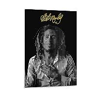 レゲエミュージックボブマーリーポスターアートペインティングポスターデコレーションペインティングモダンプリントキャンバスペインティングルームデコレーションペインティング16×24inch(40×60cm)