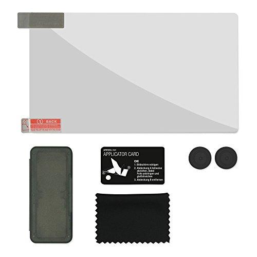 Speedlink 4-in-1 Starter Kit für Nintendo Switch, Vierteiliges Zubehörpaket - Schutz und Komfort - schwarz