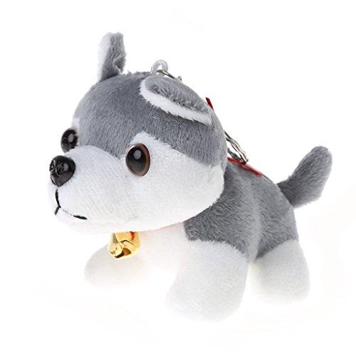 Museourstyty Welpen-Plüsch-Spielzeug, Stofftier Kissen Husky Hund Stoffpuppe gepunktet a