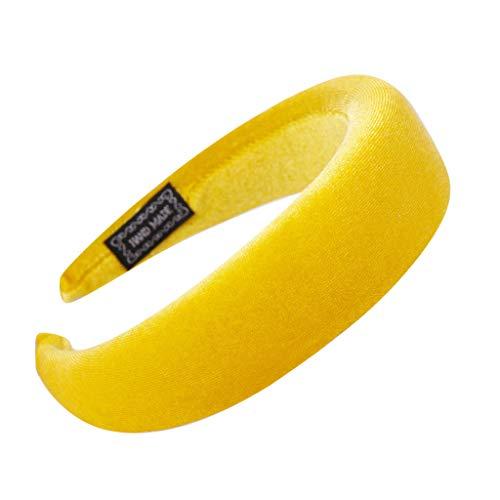 YWLINK Mode Samt Sport Haarband Volltonfarbe Damen Haar Kopfband Einfache SüßE MäDchen Stirnband(A Gelb,)