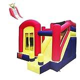 FGVDJ LuoMei Trampolín Inflable para niños, Castillo Inflable para el hogar, tobogán Interior, trampolín doméstico pequeño con Colores de protección, 400x360x280cm
