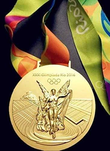 2016リオオリンピックのお土産メダルセット:ゴールドメダルとリボン