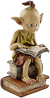 Top Collection Miniature Fairy Garden and Terrarium Statue, Garden Pixie Elf Reading Book