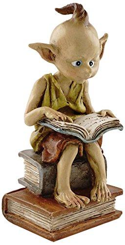 Top Collection Miniature Fairy Garden and Terrarium Statue, Garden Pixie Elf Reading Book