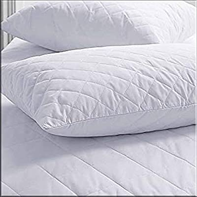 Wholesale Pack of 4 Poly-Cotton Quilted Pillow Protectors - 48x74cm Standard UK Size Anti-Allergy Pillow Protectors 4 Pack Quilted Pillows pack of 4 Cases Cover Set