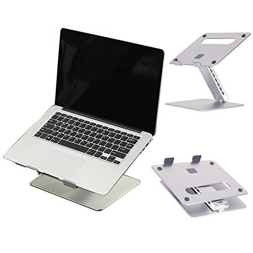 Recliner Soporte para Computadora Portátil De Escritorio Soporte para Portátil Ajustable Plegable Compatible con 11 '' -17 '' Tabletas MacBook iPad Portátil, Plata
