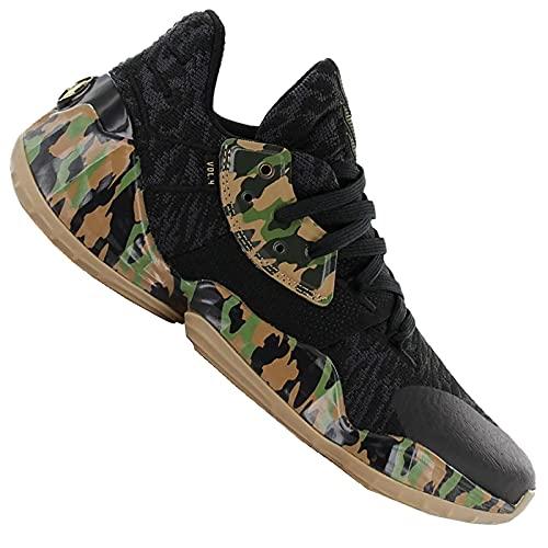 adidas Harden Vol. 4 Basketballschuhe MVP NBA EF1259 Schuhe Schwarz Camouflage, Schuhgröße:44 EU, Farbe:Schwarz